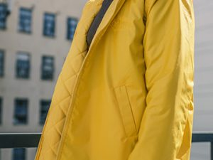 Windblock Reversible Coat – Sunshine/Yellow